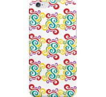 Coloured Swirl Dance Pattern iPhone Case/Skin