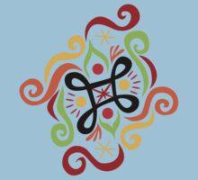 Calligraphic Motif Baby Tee