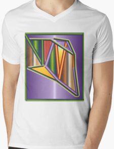 GRADIENT  ART Mens V-Neck T-Shirt