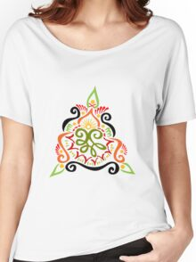 Calligraphic Motif Women's Relaxed Fit T-Shirt