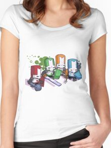 Castle Crashers Women's Fitted Scoop T-Shirt