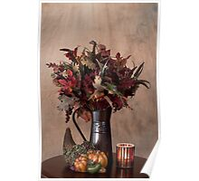 Fall Display with Beige Background Poster