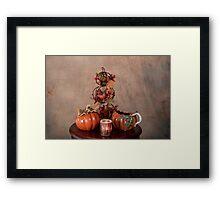 Thanksgiving Scene Table Setting Framed Print