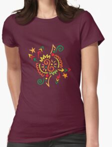 Firework Doodle Womens Fitted T-Shirt