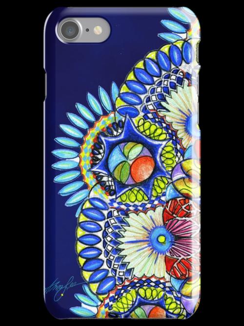Cathedral Sky Mandala, I phone case, by Alma Lee by Alma Lee
