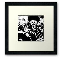 Luffy Gear 4 - Ready To Fight Framed Print