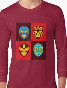 Mexican Wrestling Masks, Luchador Long Sleeve T-Shirt