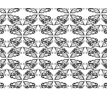 Calligraphic Motif Pattern Photographic Print