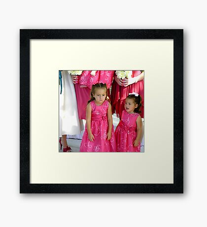 """""""Pouting""""  (Unhappy Flower Girl) Framed Print"""