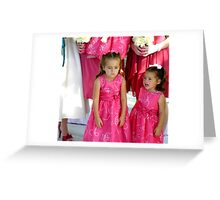 """""""Pouting""""  (Unhappy Flower Girl) Greeting Card"""