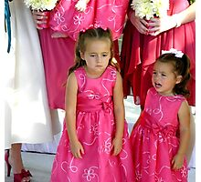"""""""Pouting""""  (Unhappy Flower Girl) Photographic Print"""
