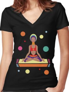 Far Away Women's Fitted V-Neck T-Shirt