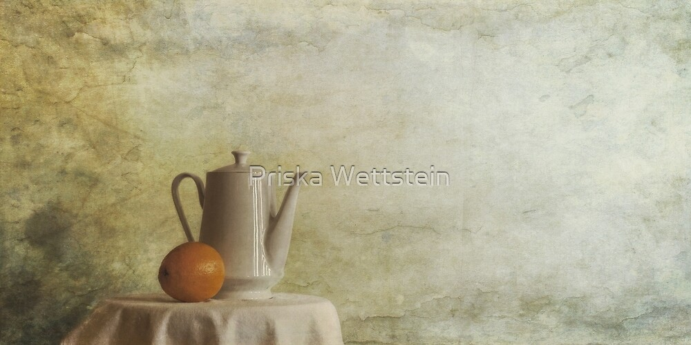 a jugful tea and a orange by Priska Wettstein