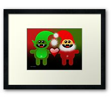 SANTA&LITTLE HELPER Framed Print