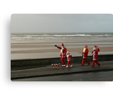 Santas going for a walk Canvas Print