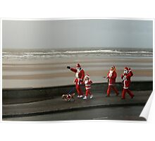 Santas going for a walk Poster