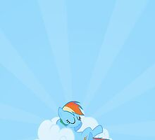 Rainbow Dash Sleeping (Phone Case) by carnivean