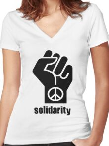 Solidarity Women's Fitted V-Neck T-Shirt