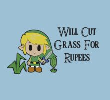 Link Will Cut Grass For Rupees Kids Tee