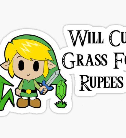 Link Will Cut Grass For Rupees Sticker