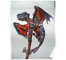 Satanic leaf tailed gecko with wings   Poster