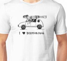 I heart bodysurfing Unisex T-Shirt