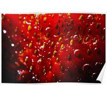Sparkling Strawberry Poster