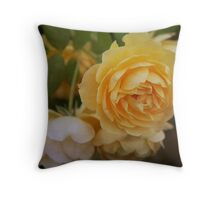 Heirloom Yellow Roses Throw Pillow