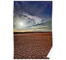 Cracked Salton Skies Poster