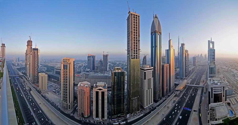 Sheikh Zayed Road by Sebastian Opitz