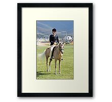 Pony Judging -  Royal Hobart Show Tasmania Framed Print