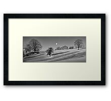 Moonset at Dawn - Malham, Yorkshire Framed Print