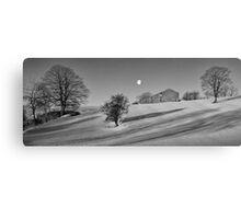 Moonset at Dawn - Malham, Yorkshire Canvas Print