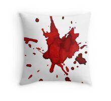halloween blood  Throw Pillow
