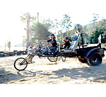 a carriage / bike /  trike ,  whateva ,  the one to be on  Photographic Print