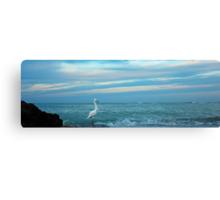 fishing at daybreak Canvas Print
