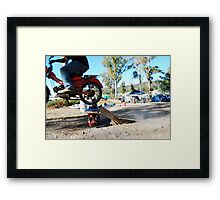 a postie bike and itz capabilities  Framed Print