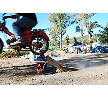 a postie bike and itz capabilities  Photographic Print