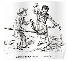 Achille Sirouy Mark Twain Les Aventures de Huck Huckleberry Finn illustration p252 Poster