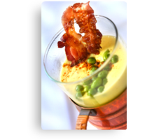 Yellow and Green Pea's Soup  Canvas Print