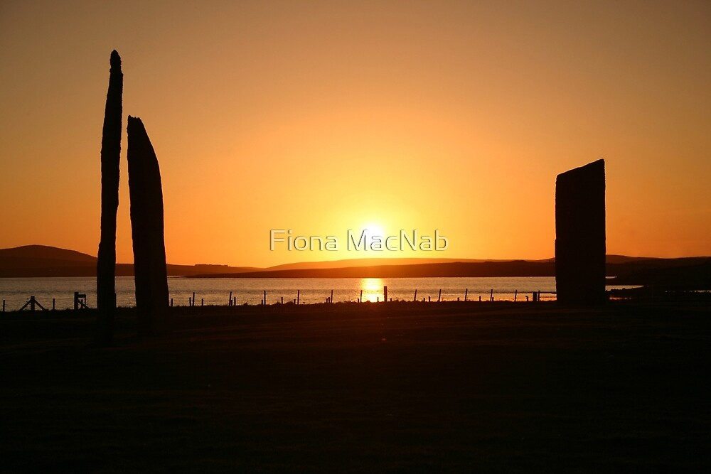 Stenness Sunset by Fiona MacNab