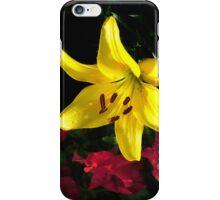 jaune et rouge iPhone Case/Skin