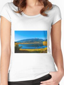 Begbie MT  Revelstoke BC Women's Fitted Scoop T-Shirt