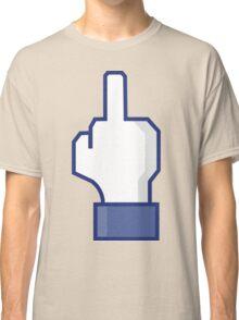 Middle Finger Emoji Tshirt | Facebook Dislike Emoticon T-Shirt | Mens and Womens Classic T-Shirt