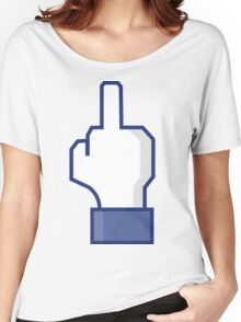 Middle Finger Emoji Tshirt | Facebook Dislike Emoticon T-Shirt | Mens and Womens Women's Relaxed Fit T-Shirt