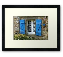 Cottage Window Framed Print