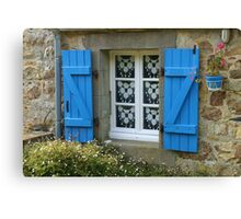 Cottage Window Canvas Print