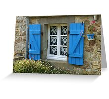 Cottage Window Greeting Card