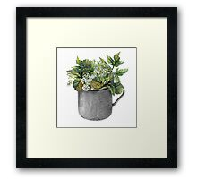 Mug with green forest growth Framed Print