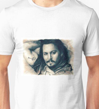 Johnny Depp drawing Unisex T-Shirt